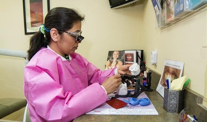 Dr. Patel working